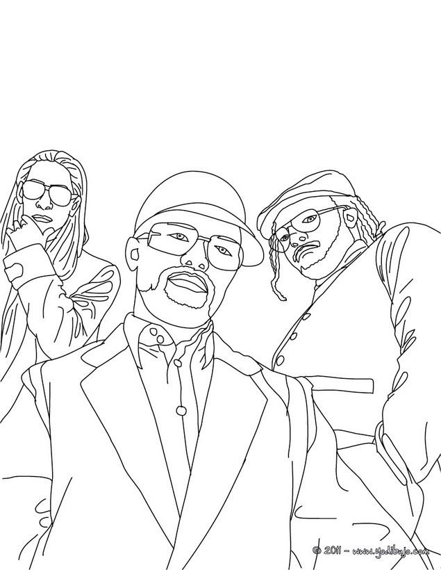 Dibujos para colorear los miembor del grupo de black eyed peas - es ...