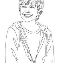 Dibujo para colorear : Retrato de Greyson Chance
