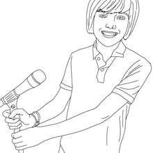 Dibujo de Greyson Chance cantando para colorear - Dibujos para Colorear y Pintar - Dibujos para colorear FAMOSOS - GREYSON CHANCE para colorear