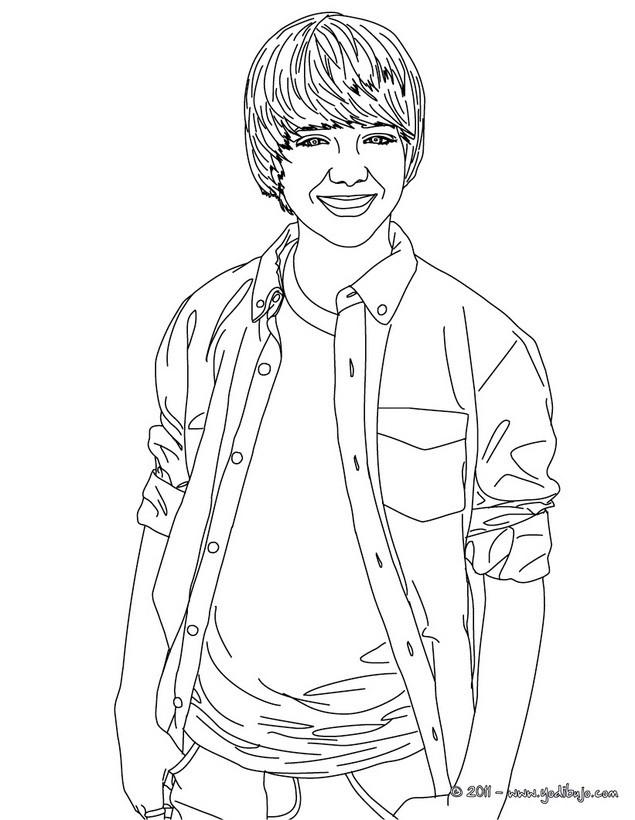 Kleurplaat Justin Bieber 2017 Dibujos Para Colorear Greyson Chance Sonriendo Es