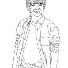 Dibujo para colorear Greyson Chance sonriendo - Dibujos para Colorear y Pintar - Dibujos para colorear FAMOSOS - GREYSON CHANCE para colorear