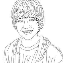 Dibujo para colorear : un retrato de Greyson Chance