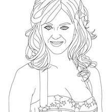 Dibujo de la famosa Katy Perrry para colorear - Dibujos para Colorear y Pintar - Dibujos para colorear FAMOSOS - KATY PERRY dibujos para colorear