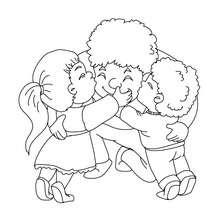 Dibujo para colorear padre con su hijos - Dibujos para Colorear y Pintar - Dibujos para colorear FIESTAS - Dibujos para colorear DIA DEL PADRE