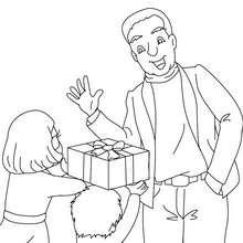 Dibujo para colorear regalo del dia del padre - Dibujos para Colorear y Pintar - Dibujos para colorear FIESTAS - Dibujos para colorear DIA DEL PADRE
