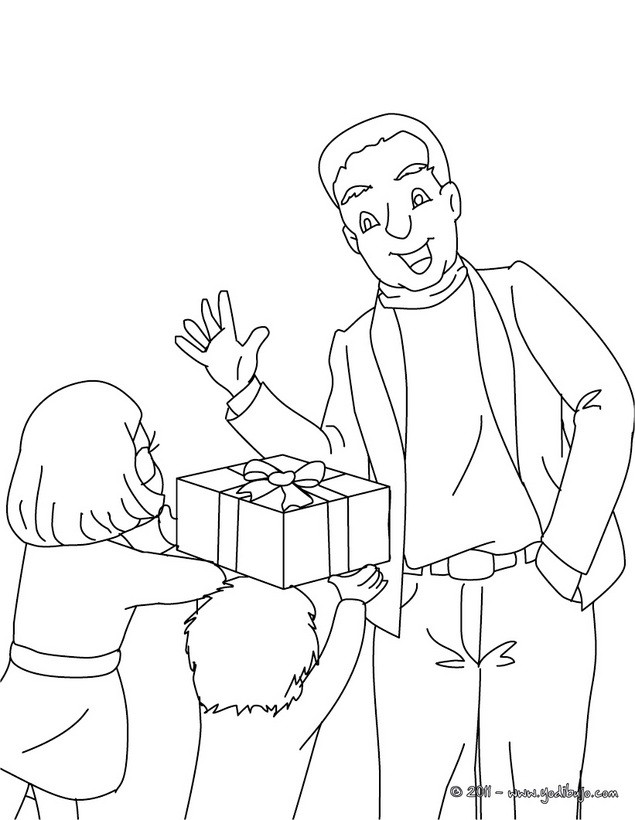 Dibujos para colorear mejor papa - es.hellokids.com
