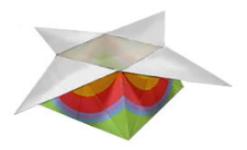 Caja con cuernos Origami