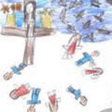 Ilustración : Dibujo de fiesta Semana Santa