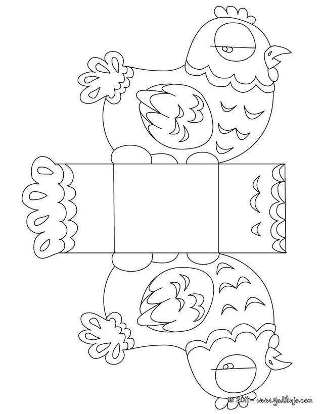 Dibujos para colorear gallina  eshellokidscom