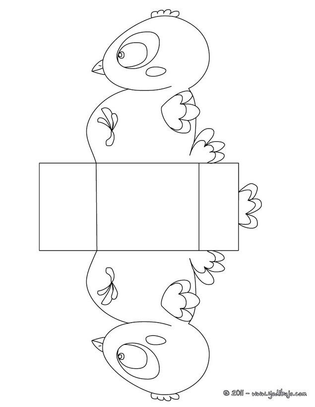 Dibujo para colorear : Pollito