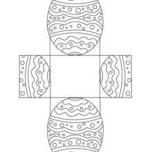 Dibujo de huevo para colorear y recortar - Dibujos para Colorear y Pintar - Dibujos para colorear FIESTAS - Dibujos para colorear y recortar PASCUA