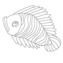 Dibujo de pescado de abril rayado para colorear - Dibujos para Colorear y Pintar - Dibujos para colorear FIESTAS - Dibujos de PESCADO DE ABRIL para colorear y recortar