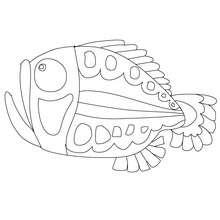 Dibujo de pescado de abril boca abierta para colorear y recortar - Dibujos para Colorear y Pintar - Dibujos para colorear FIESTAS - Dibujos de PESCADO DE ABRIL para colorear y recortar
