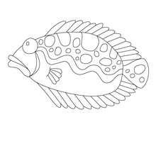 Dibujo para colorear : pesscado de abril triste