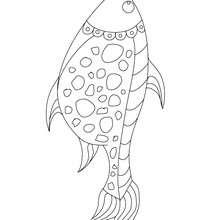 Dibujo para colorear y recortar pescado de abril - Dibujos para Colorear y Pintar - Dibujos para colorear FIESTAS - Dibujos de PESCADO DE ABRIL para colorear y recortar