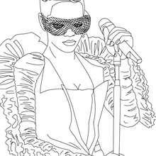 Dibujos de Rihanna con gafas para colorear - Dibujos para Colorear y Pintar - Dibujos para colorear FAMOSOS - RIHANNA para colorear