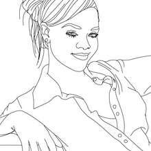 Dibujo de Rihanna para colorear y pintar - Dibujos para Colorear y Pintar - Dibujos para colorear FAMOSOS - RIHANNA para colorear