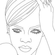 Dibujo de Rihanna para colorear - Dibujos para Colorear y Pintar - Dibujos para colorear FAMOSOS - RIHANNA para colorear