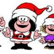 Mafalda festeja Navidad