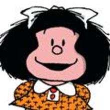 Mafalda sonrie