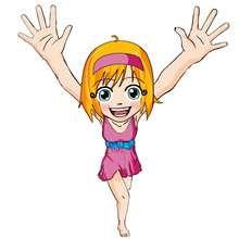 dibujos de ana las manos arriba - Dibujar Dibujos - Dibujos infantiles para IMPRIMIR - Dibujos de PERSONAJES para imprimir - Dibujos de ANA para imprimir