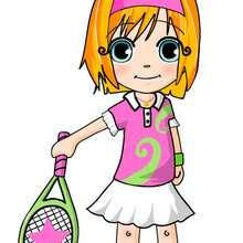 dibujos de ana jugando tenis