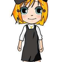dibujos de ana con falda y gorra negra - Dibujar Dibujos - Dibujos infantiles para IMPRIMIR - Dibujos de PERSONAJES para imprimir - Dibujos de ANA para imprimir