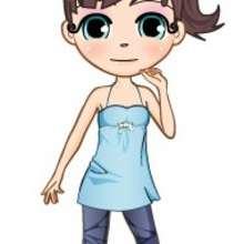 dibujos de andrea de pie - Dibujar Dibujos - Dibujos infantiles para IMPRIMIR - Dibujos de PERSONAJES para imprimir - Dibujos de ANDREA para imprimir