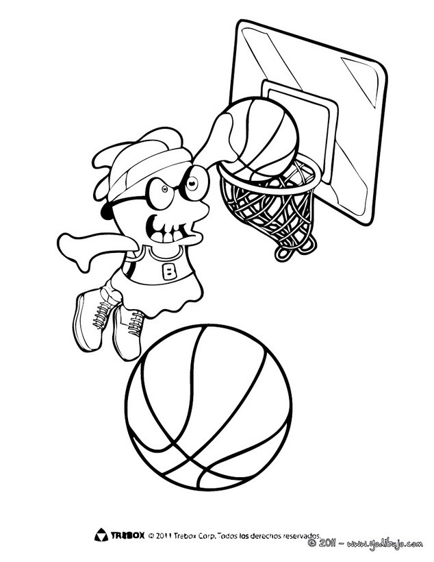 Baloncesto : Dibujos para Colorear, Juegos Gratuitos, Lecturas ...