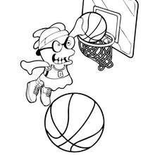 Dibujo de LILYBOO jugando baloncesto para colorear - Dibujos para Colorear y Pintar - Dibujos para colorear PERSONAJES - Dibujos para colorear y pintar PERSONAJES - BOOMONSTERS para colorear