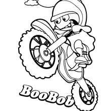 Dibujo de BOOBOB para colorear - Dibujos para Colorear y Pintar - Dibujos para colorear PERSONAJES - Dibujos para colorear y pintar PERSONAJES - BOOMONSTERS para colorear