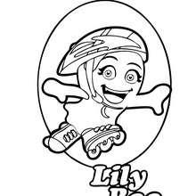 Dibujo de LILYBOO haciendo patines para colorear - Dibujos para Colorear y Pintar - Dibujos para colorear PERSONAJES - Dibujos para colorear y pintar PERSONAJES - BOOMONSTERS para colorear