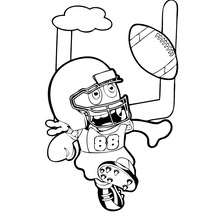 Dibujo para colorear : BOOMONSTER jugando fútbol americano
