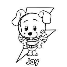 Dibujo de JAY el perrito del Club Oca para colorear - Dibujos para Colorear y Pintar - Dibujos para colorear PERSONAJES - Dibujos para colorear y pintar PERSONAJES - CLUB OCA para colorear