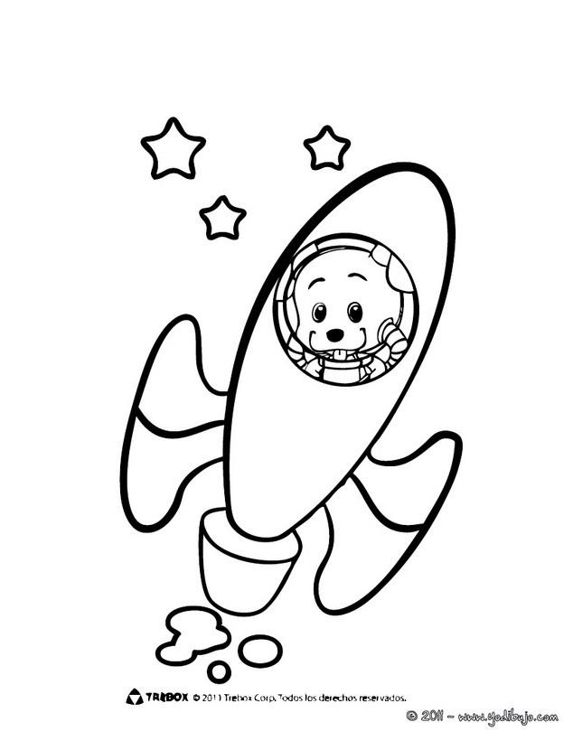 Dibujos para colorear cohete del club oca - es.hellokids.com