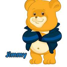 Dibujo de JIMMY el osito del Club Oca