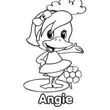 Dibujo para colorear : la bella pata ANGIE
