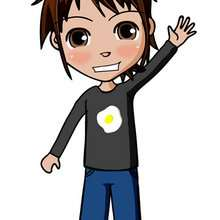 dibujos de Matias saludando - Dibujar Dibujos - Dibujos infantiles para IMPRIMIR - Dibujos de PERSONAJES para imprimir - Dibujos de MATIAS par imprimir