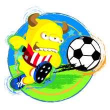 Imagen : Dibujo BOOMONSTER con balon de futbol