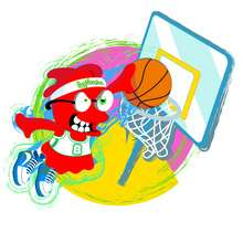 Dibujo BOOMONSTER jugando baloncesto