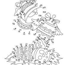 Hoja para imprimir : Juego unir puntos campanas de semana santa