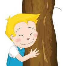 dibujos de Teo escondido detras del arbol - Dibujar Dibujos - Dibujos infantiles para IMPRIMIR - Dibujos de PERSONAJES para imprimir - Dibujos de TEO para imprimir