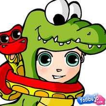 Puzzle en línea : Puzzle Disfraz personaje