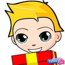 Puzzle en línea : Puzzle niño rubio con regalo
