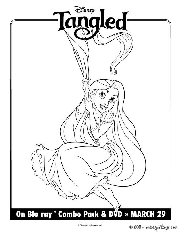 Dibujos para colorear rapunzel con pelo suelto  eshellokidscom