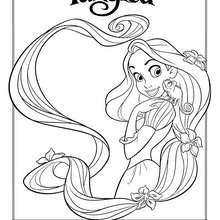 Dibujo para pintar RAPUNZEL - Dibujos para Colorear y Pintar - Dibujos DISNEY para colorear - Dibujos para colorear PRINCESAS DISNEY - Dibujos ENREDADOS para colorear Disney