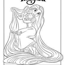 Dibujos para colorear rapunzel y pascal  eshellokidscom