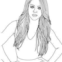 Dibujo para pintar de Shakira - Dibujos para Colorear y Pintar - Dibujos para colorear FAMOSOS - SHAKIRA para colorear