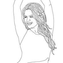 Dibujo para colorear de Shakira bailando - Dibujos para Colorear y Pintar - Dibujos para colorear FAMOSOS - SHAKIRA para colorear