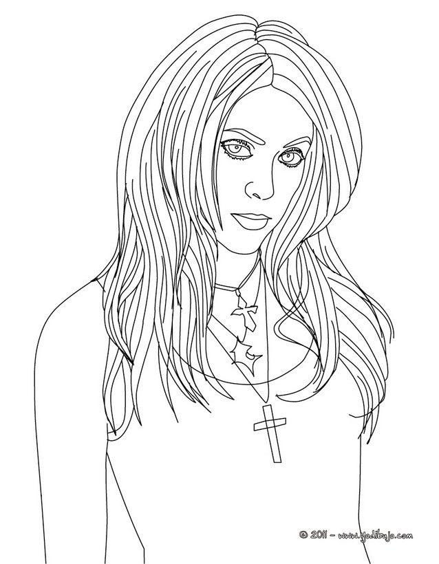 Dibujo para colorear : Shakira pintado
